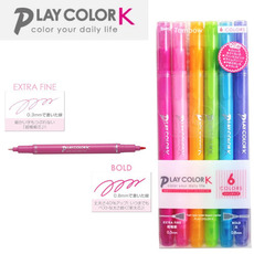 Tombow PLAY COLOR K 수성 싸인펜 6컬러세트